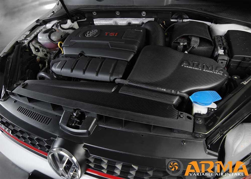 arma hyper flow carbon air intake system airbox vw golf. Black Bedroom Furniture Sets. Home Design Ideas