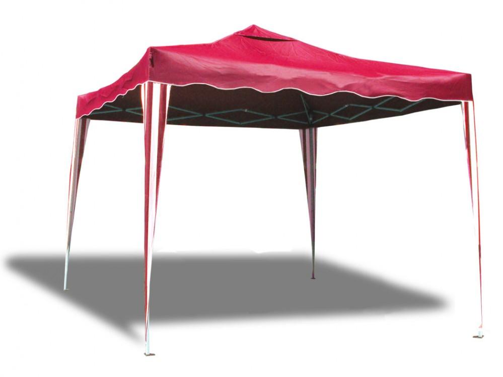 garten zelt pavillon 3 x 3 m falt klappbar rot weiss partyzelt festzelt ebay. Black Bedroom Furniture Sets. Home Design Ideas