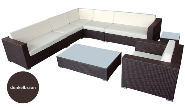 poly rattan sitz gruppe lounge design m bel eck sofa. Black Bedroom Furniture Sets. Home Design Ideas