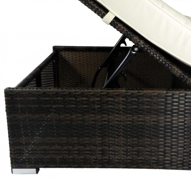 poly rattan outdoor lounge liege strandliege 74x200. Black Bedroom Furniture Sets. Home Design Ideas
