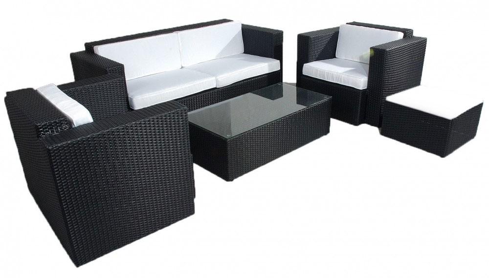 design poly rattan sitzgruppe sitzgarnitur lounge 2er sofa 2 sessel tisch hocker ebay. Black Bedroom Furniture Sets. Home Design Ideas