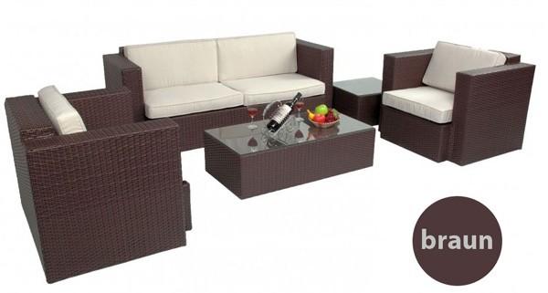 Lounge Gartenmobel Polyrattan Braun – runabout.co